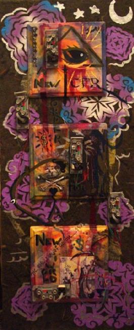 Art: The Illuminati Phone Tap by Artist Caroline Lassovszky Baker