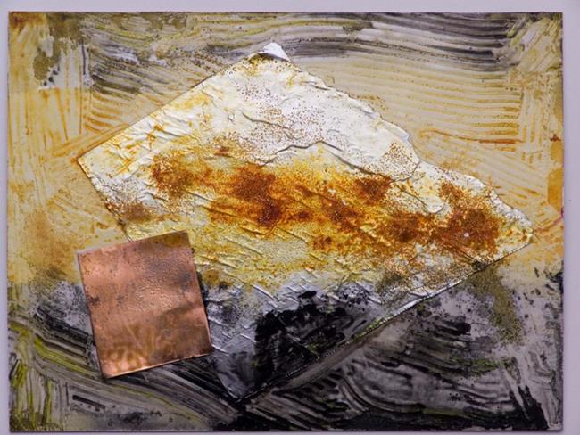 Art: Copper Spot I by Artist Gabriele Maurus