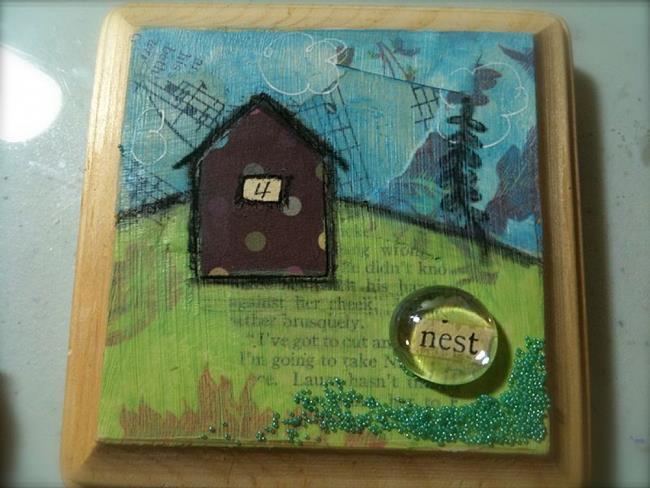 Art: Little Houses Series - Nest by Artist Aimee Marie Wheaton