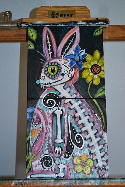 Art: Conejita Dyptich by Artist Aimee Marie Wheaton