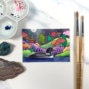 Detail Image for art Moonlit Loon