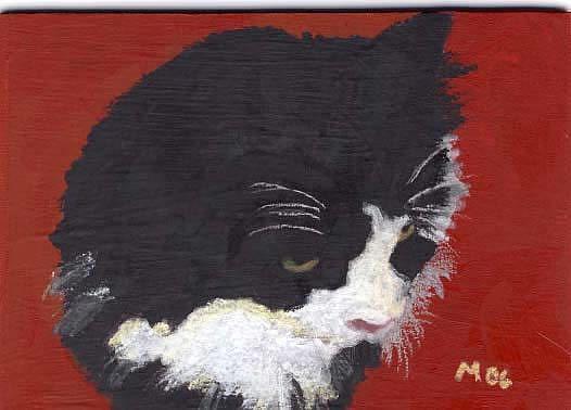 Art: Harley Cat by Artist Gabriele Maurus