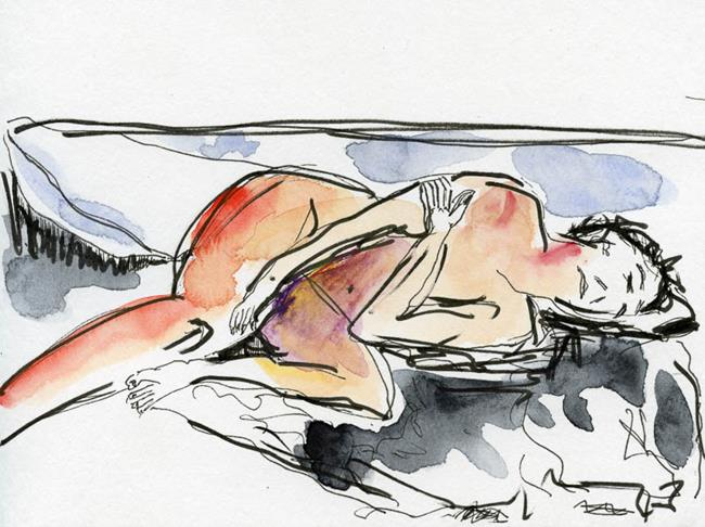 Art: Resting Woman by Artist Gabriele Maurus
