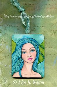 Detail Image for art Winsome Mermaid Illustration