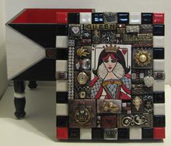 Art: Queen of Hearts Box by Artist Melinda Dalke