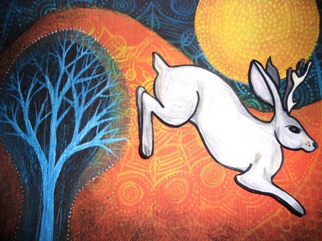 Art: Jackalope - Jack Rabbit x Antelope by Artist  Tennille Bankes aka The Naked Artist