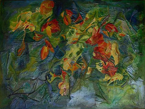 Art: Garden Scape by Artist Gabriele Maurus