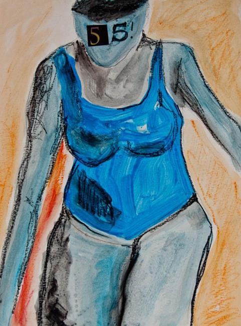 Art: Blue Onesie by Artist Gabriele Maurus