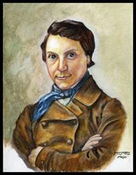 Art: Portrait After Brady by Artist Madeline  Carol Matz