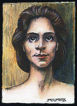 Art: ATC - Vintage Woman #3 by Artist Madeline  Carol Matz