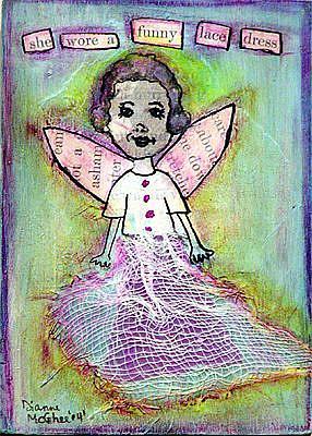 Art: Funny Lace Dress by Artist Dianne McGhee