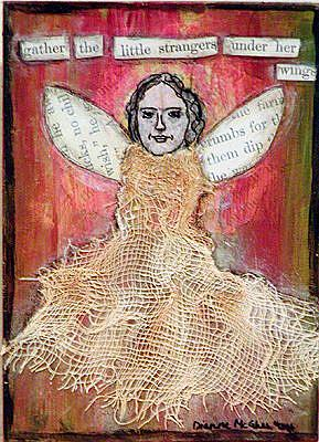 Art: Under Her Wings by Artist Dianne McGhee