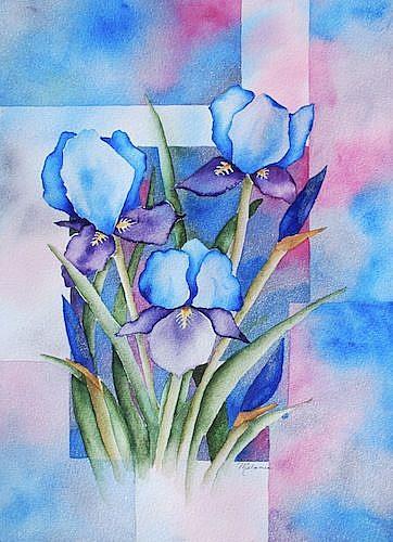Art: Blue Iris by Artist Melanie Pruitt