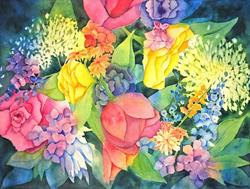 Art: Cottage Bouquet by Artist Melanie Pruitt