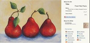 Detail Image for art Fresh Modern Pears