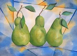 Art: Fresh Modern Pears by Artist Melanie Pruitt
