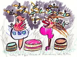 Art: Yelling At Flies Because Of Prize Winning Pies by Artist Elisa Vegliante