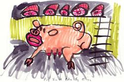 Art: Pig In Poke by Artist Elisa Vegliante