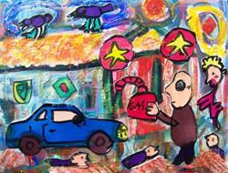 Art: The Gas Man by Artist Elisa Vegliante