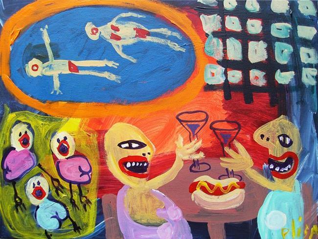 Art: Pool Party by Artist Elisa Vegliante
