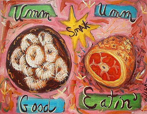 Art: Powdered Donuts And Pork Product by Artist Elisa Vegliante