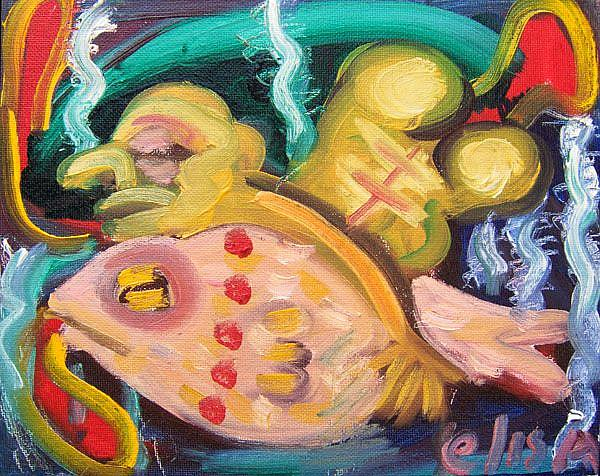 Art: Sleeping With The Fishes by Artist Elisa Vegliante