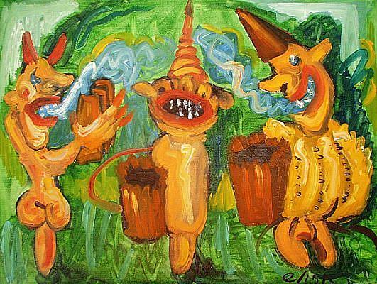 Art: Feeding The Devil by Artist Elisa Vegliante