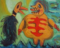 Art: Oh No! I'm Bloated Mr. Duck by Artist Elisa Vegliante