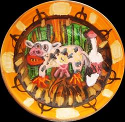 Art: American Gothic Horror Commemorative Bowl Series: The Cow by Artist Elisa Vegliante