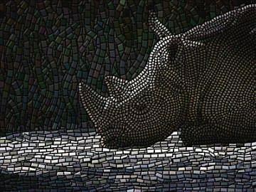 Art: Rhino Ruminations by Artist Edward K