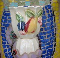 Art: Egg Cup Wall Vase by Artist Lauren K Blair