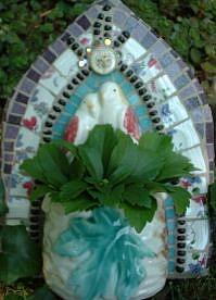 Art: Lovebirds Wall Vase by Artist Lauren K Blair