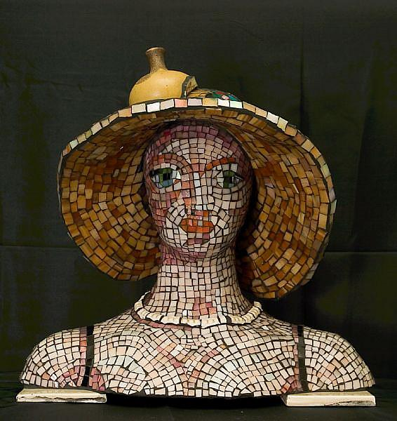 Art: Mosaic Lady - Sale! by Artist Lauren K Blair