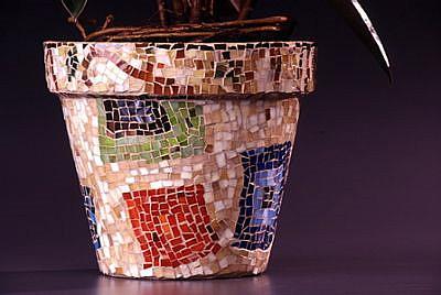 Art: Quilt Block Pot - Sale by Artist Lauren K Blair