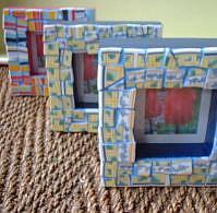 Art: Mosaic Frames by Artist Lauren K Blair