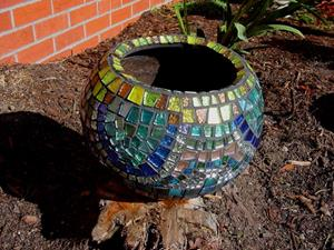 Detail Image for art Mosaic Clay Pot