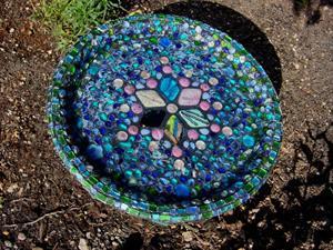 Detail Image for art Mosaic Bird Bath