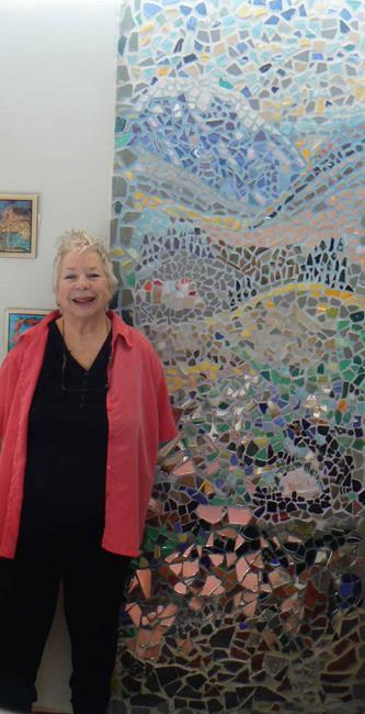 Art: Mosaic Studio Wall by Artist Naquaiya