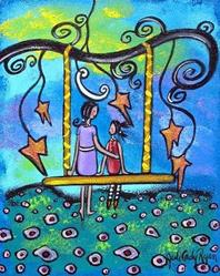 Art: Mother Daughter Talk by Artist Juli Cady Ryan
