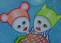 Art: Cat and Mouse-Sold by Artist Sherry Key