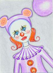 Art: Clown With A Tear-Sold by Artist Sherry Key