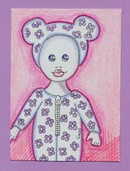 Art: Bedtime Jammies-for sale on Ebay by Artist Sherry Key