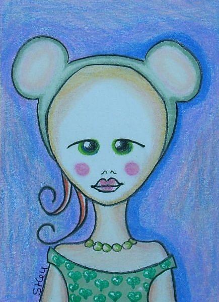 Art: Gidget Wears Mouse Ears by Artist Sherry Key