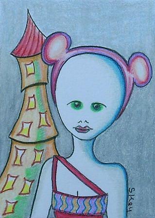 Art: Rapunzel Sneaks Out by Artist Sherry Key