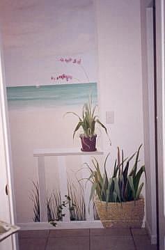 Art: Beach Cottage Porch by Artist Debra Schott