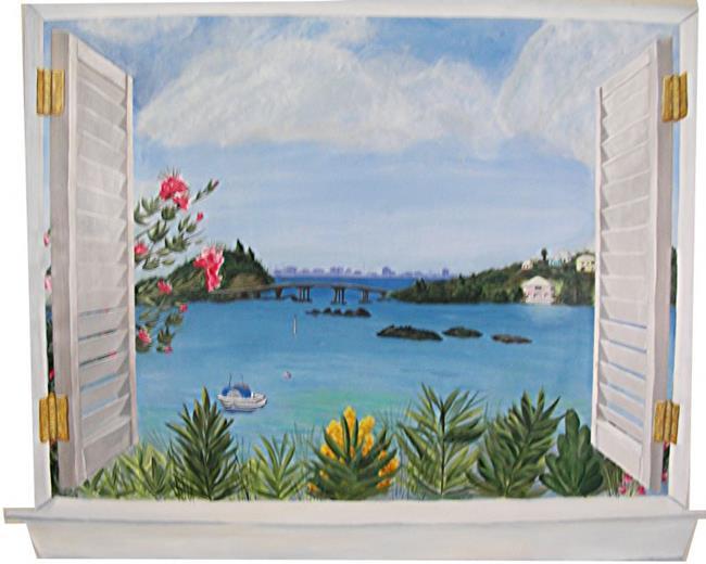 Art: Window To Bermuda by Artist Karen Lynn Evans