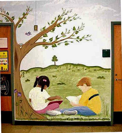 Art: Elementary School Murals, Raleigh NC by Artist Karen Lynn Evans