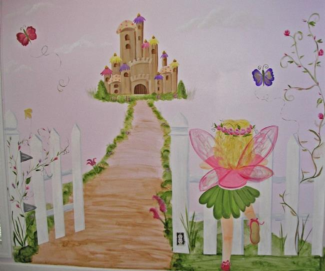 Louisa 39 s fairy garden by karen lynn evans from murals for Fairy garden mural