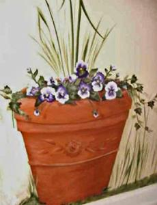 Detail Image for art Piper and the Pansies