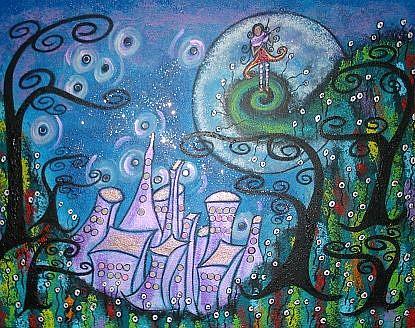Art: The Night She Shared Her Soul by Artist Juli Cady Ryan